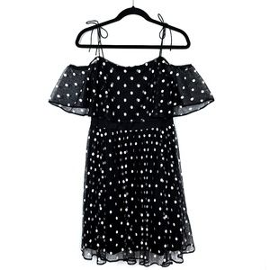 Adrianna Papell Polka Dot Off Shoulder Dress